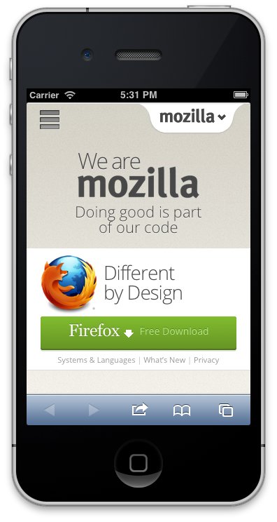 mozilla iphone 1