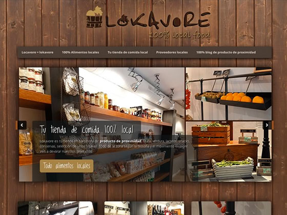 Lokavore - Web en WordPress
