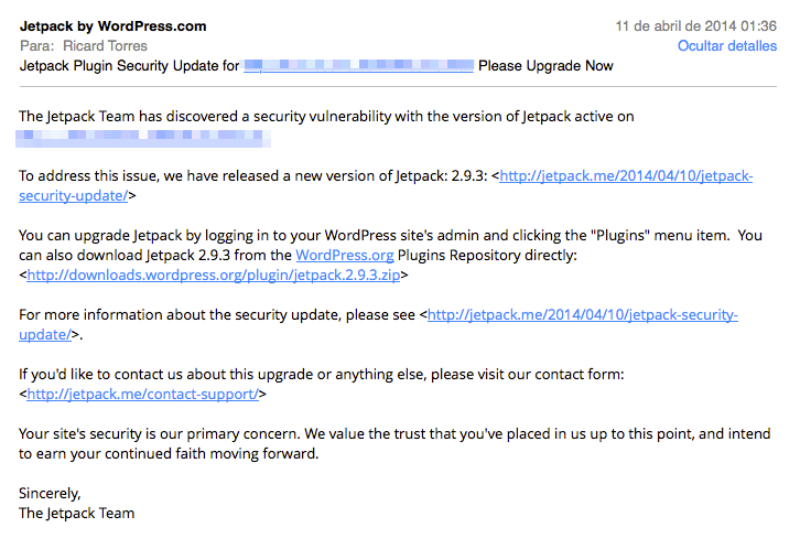 Jetpack email security